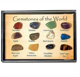 Natural Gemstones Box School Science Natural Fossil Kids Birthday Party Gift